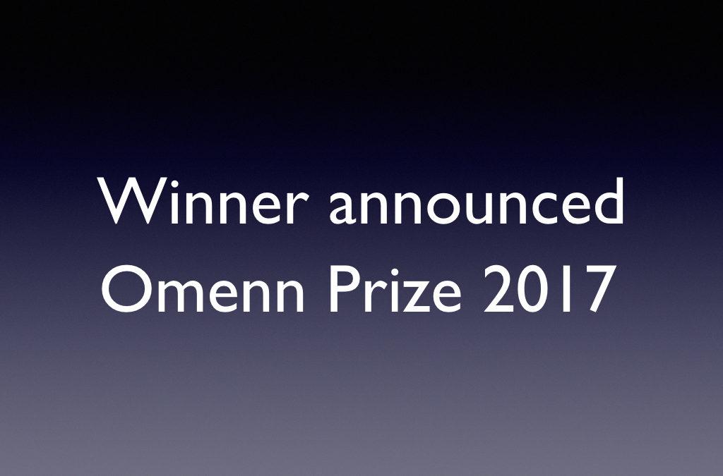 Alison Feder wins 2017 Omenn Prize