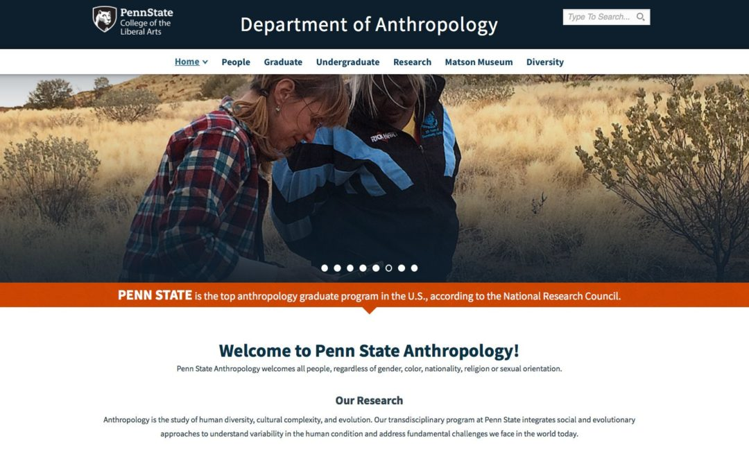 Evolution and Medicine positions available in Anthropology and Biology at Penn State